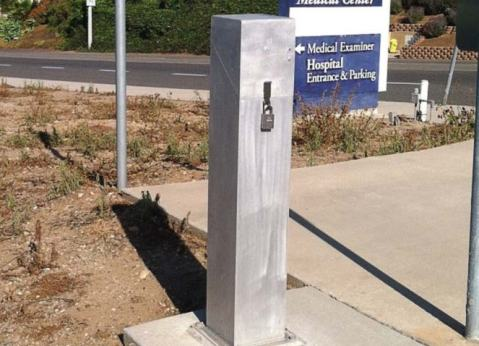 A water sampling station in Ventura County, Calif., is sealed to protect it from damage, tampering and contamination. (Photo provided)