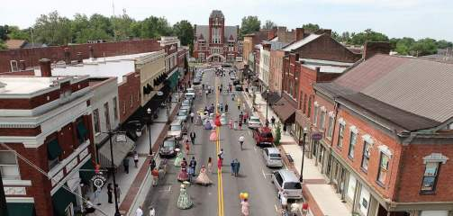 "Bardstown, Ky., has landed on many ""best"" lists over the years, including a spot on Travel + Leisure's list of ""America's Most Beautiful Town Squares"". (Photo provided by Bardstown Tourism)"