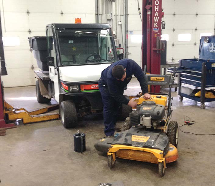Kent State's fleet services also maintains 650 pieces of equipment including weed eaters, mowers, ag tractors, generators and more. (Photo provided by John Croop)