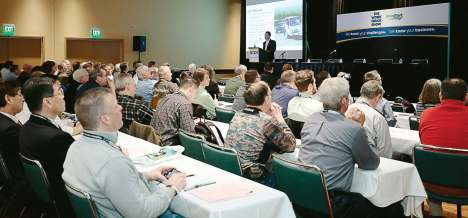 Attendees to the 2016 The Work Truck Show attend an OEM chassis session where they learned about key updates. The conference also included The Green Truck Summit, where attendees learn about federal regulations, alternative fuels and more. This year's conference will be held March 14-17 in Indianapolis, Ind. (Photo provided by NTEA)