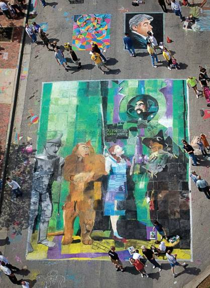 Chalk the Walk Festival is one of Mount Vernon's most popular festivals where closeted artists can decorate the town. (Photo provided)