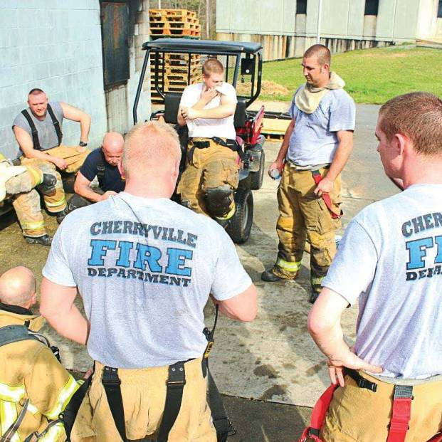 """After an economic downturn sent people to find jobs in neighboring communities, Cherryville Fire Department in North Carolina has struggled to keep volunteers, with Fire Chief Jeff Cash noting, """"After a commute to a large city, plus working eight-hour days, they don't have time for me anymore. Plus, college-aged students who leave for school often don't return to this community to live and work, so I lose out on them, too."""" (Photo provided)"""