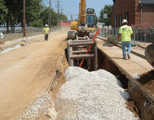While installing new water lines in Henderson, workers also addressed sewers that already took stormwater, lining them with in situ form. (Photo provided)