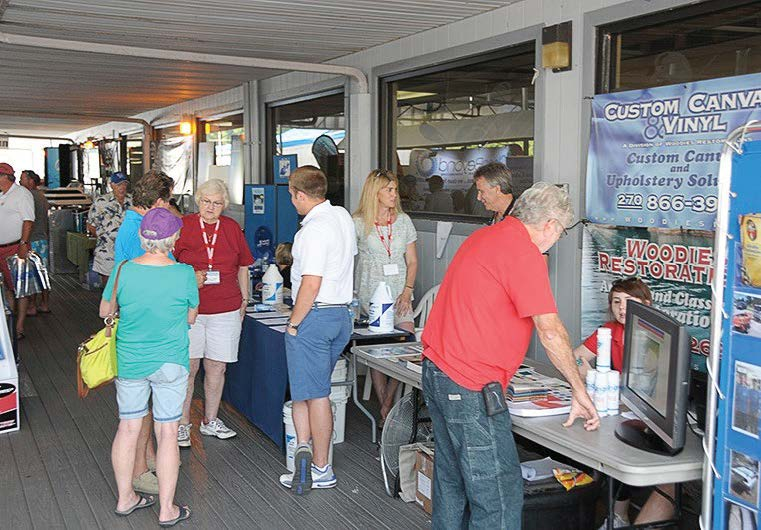 Dozens of vendors, including houseboat brokers, lenders, insurance agents and purveyors of accessories, attend the annual National On Water Houseboat Expo on Lake Cumberland. (Photo provided)