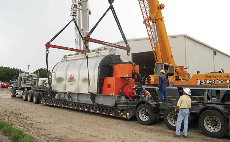 Wellington completed a $22 million dollar expansion in 2012 that included a new aeration basin, additional belt press, solids handling pump, digesters, new reuse filters with additional pumps and a complete biosolids dryer system that allowed it to change from a Class B sludge to a Class AA sludge. (Photo provided by Bryan J. Gayoso)