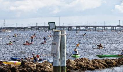 The Fourth of July Freedom Swim draws in many water-loving participants. (Photo provided by Punta Gorda)