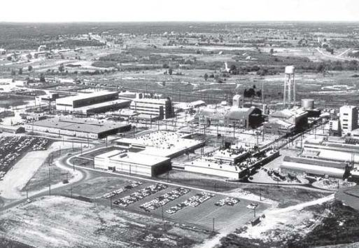 The Weldon Spring Chemical Plant, the second complex on the site, processed uranium during the Cold War. The first works, the nation's largest producer of explosives, operated during World War II and produced 700 million pounds of TNT. (Public Domain via Wikimedia Commons)