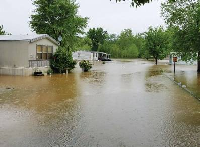 The Emergency Operations Center, which opened on April 30, alerted Arnold residents that the Meramec River was expected to crest at 44.5 feet at approximately 7 p.m. on Wednesday, May 3. (Photo provided)