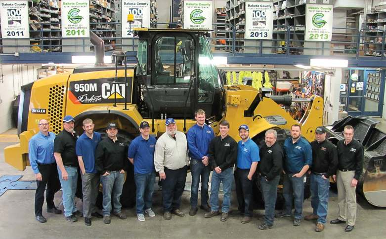 Dakota County, Minn., Fleet Management services everything from chainsaws and snowblowers to patrol cars and salt trucks. The department experienced a 70 percent worker turnover, largely due to retirements, but has put in place incentives to entice students into giving fleet services a chance. (Photo provided by Dakota County Fleet Management)