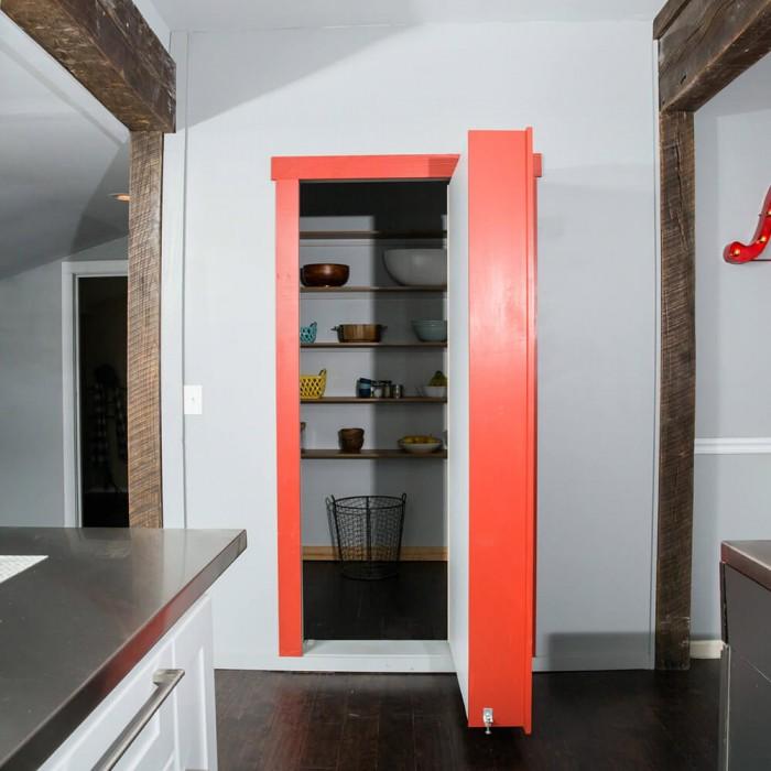 Flush Mount Cabinet Door Package Hidden Door