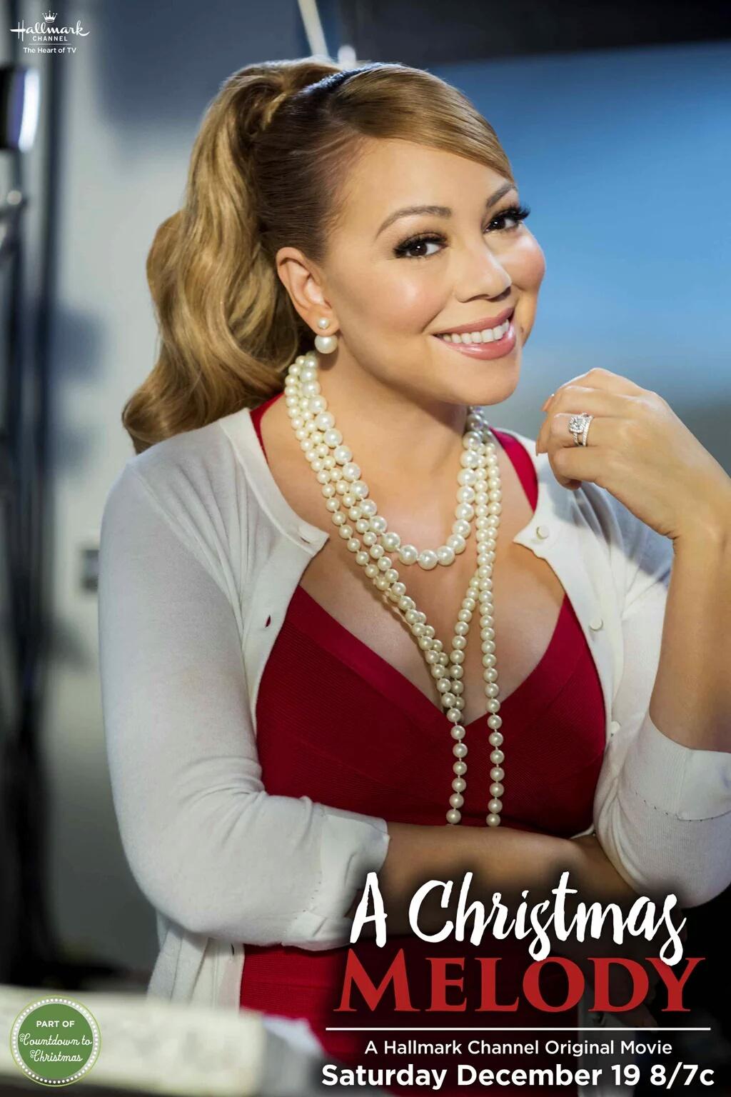 Mariah Carey A Christmas Melody Hallmark Movie Rob Christie Jen Lilley Jingle Bells Tinsel Time