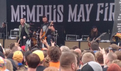 Memphis May Fire plays a live set at Rock on the Range 2016.