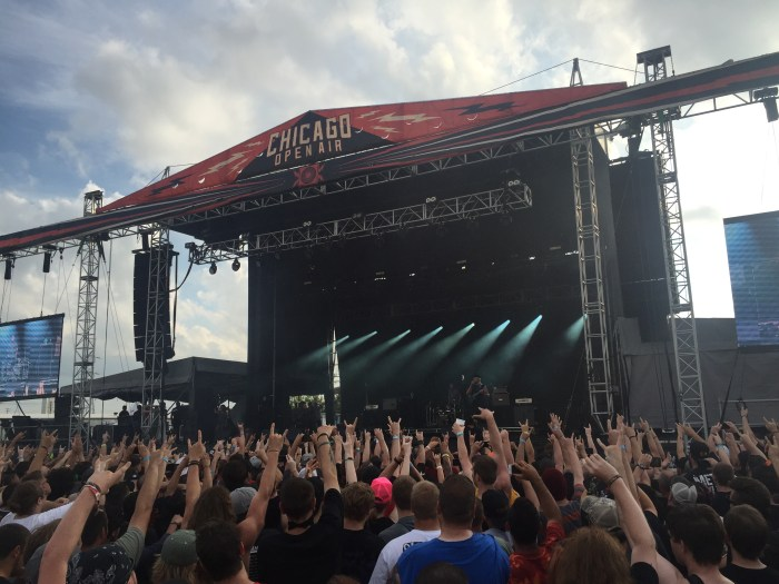 Killswitch Engage headlines the side stage at Chicago Open Air 2016 at Toyota Park in Bridgeview, IL