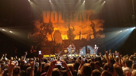 Volbeat plays live at The Allen County War Memorial Coliseum in Ft. Wayne, Indiana