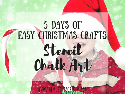 5 Days of Easy Christmas Crafts: Christmas Light Stencil Art