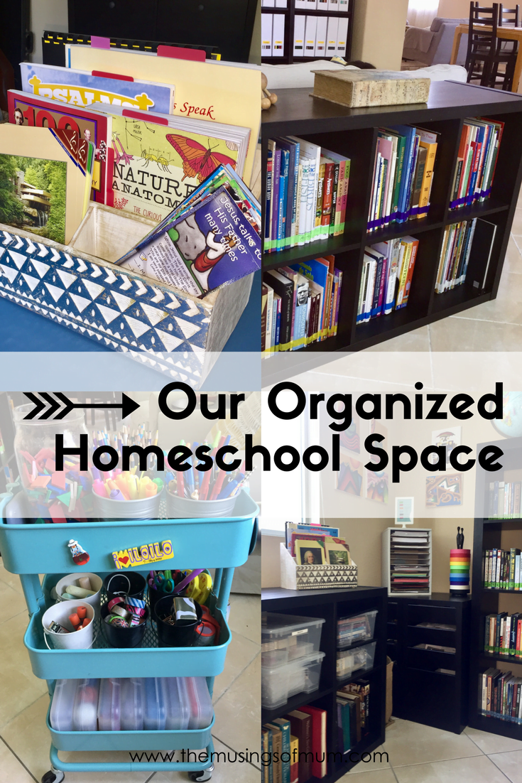 Well organized private homeschool library