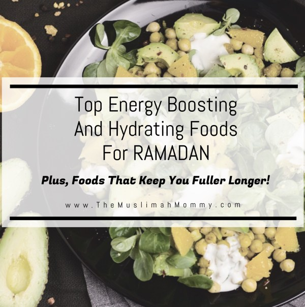 Foods that give you energy, provide hydration, and keep you fuller for longer!