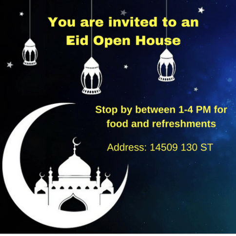 Eid Open House Invitation