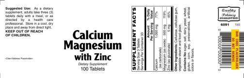Calcium Magnesium with Zinc 100ct 1