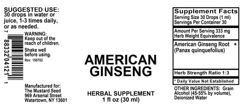 4004121 Ginseng American Liquid Extract