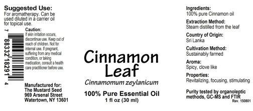 4018291 Cinnamon Leaf Essential Oil