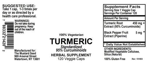 4021420 Turmeric Powder Capsules Standardized