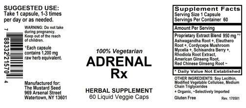 4021570 Adrenal Rx Liquid Veggie Caps