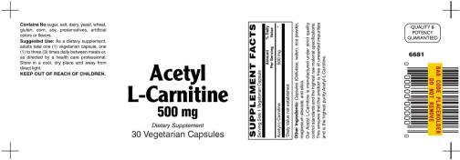 Acetyl L Carnitine 500mg 30ct 1
