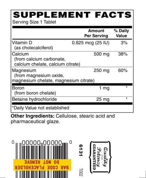 Hi Potency Calcium and Magnesium 100ct 1