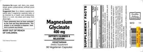 Magnesium Glycinate 400mg 90ct 1