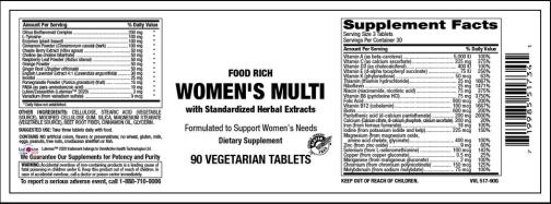 Womens multi vitamer