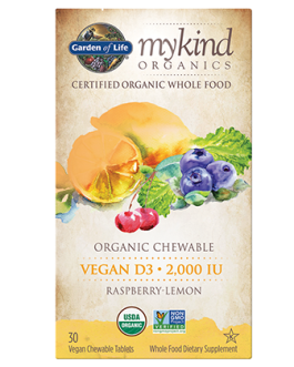 Garden of Life Mykind D3 Chewable Tablets