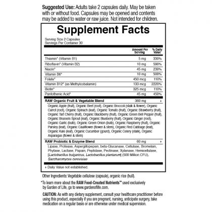 Vitamin Code Raw BComplex 60ct Back