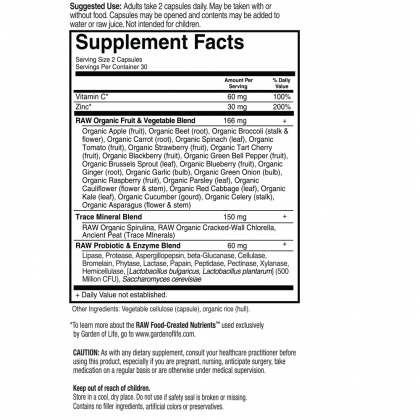 Vitamin Code Raw Zinc Back