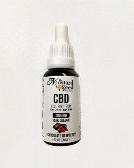 Mustard Seed Full Spectrum CBD Oil (Chocolate Raspberry, 1000mg)