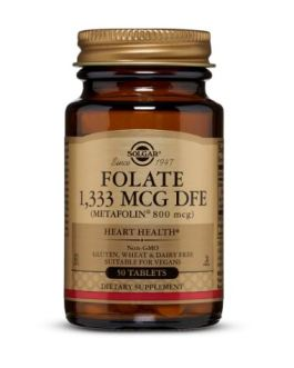 Solgar Folate 800mcg (Metafolin)