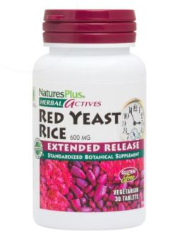 Nature's Plus Red Yeast Rice 600mg Extended Release Tabs