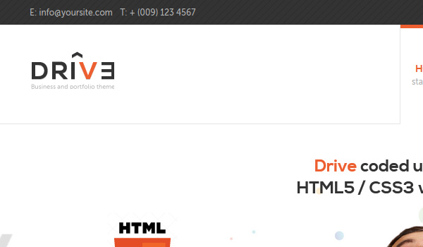 Drive Drupal Template with Responsive Layout