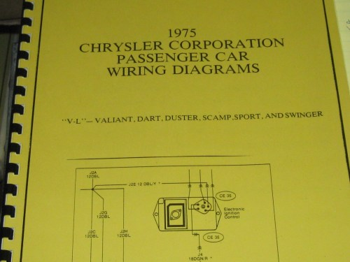 small resolution of 1975 chrysler plymouth wiring diagram v l