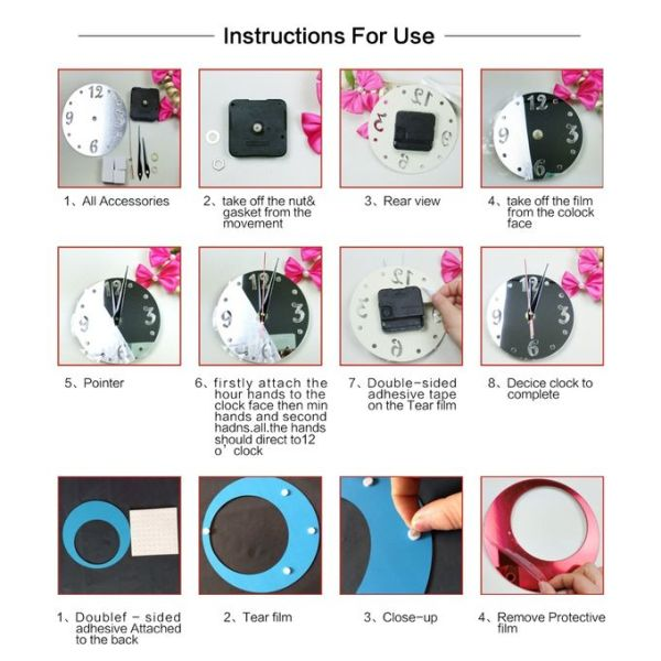 Key Features Decorative and beautiful wall clocks Unique in design and concept Step by Step Installation Manual enclosed Pocket friendly in price