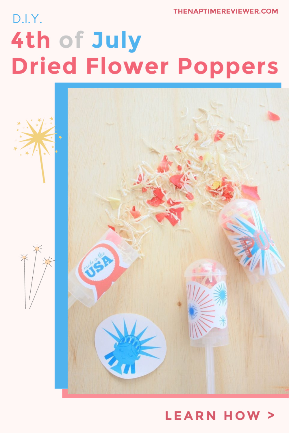 DIY Dried Flower Poppers for 4th of July