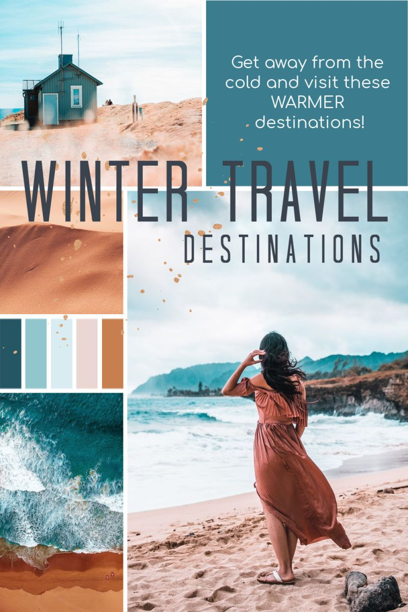 Escape the cold and visit these warmer destinations during winter.