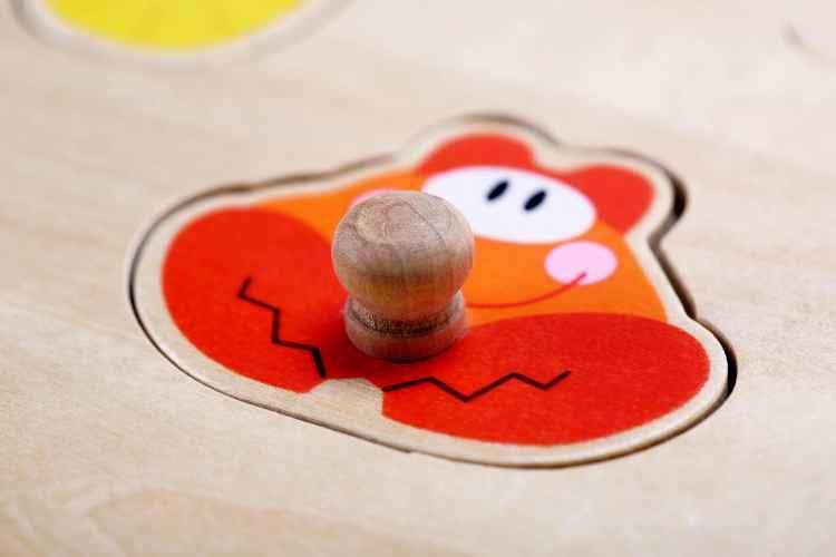 Wooden Puzzle Piece - Crab