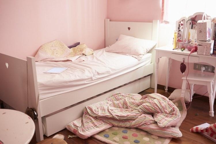 Empty And Untidy Child's Bedroom