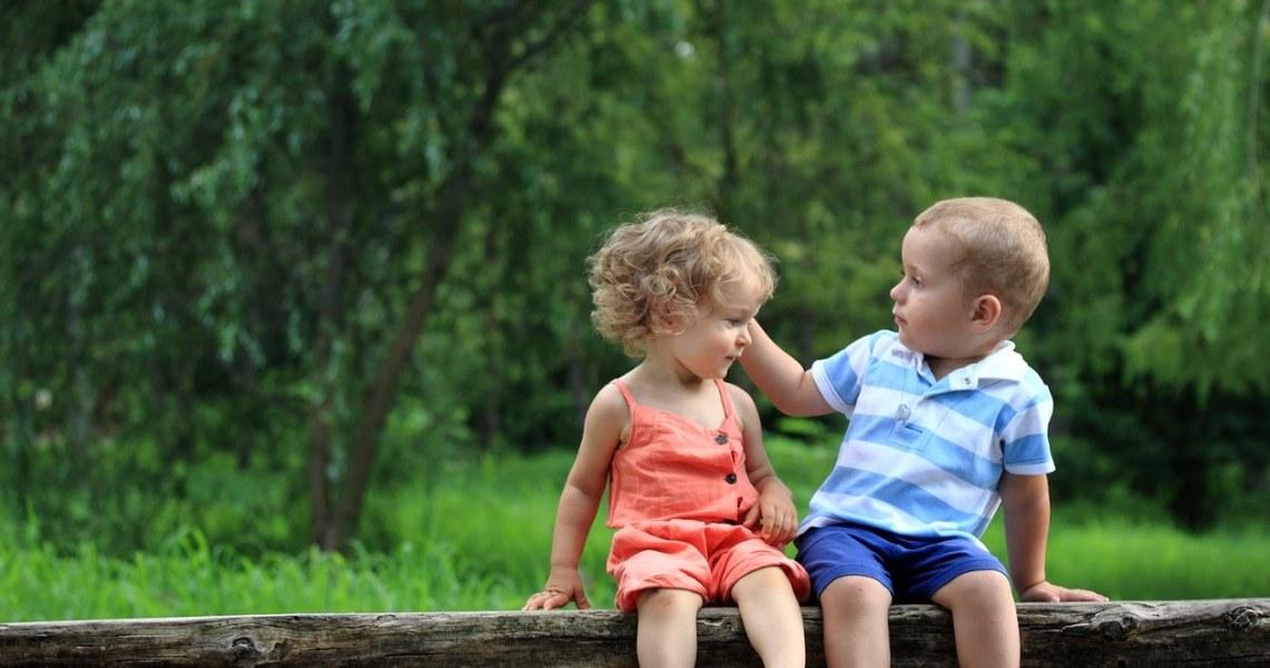 Children in summer park