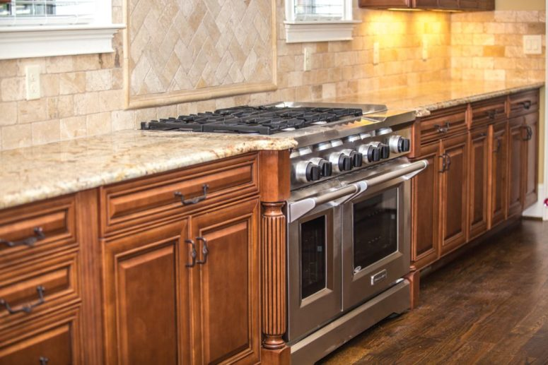 granite counters modern appliances