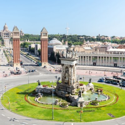 Barcelona. Spain view of espana plaza