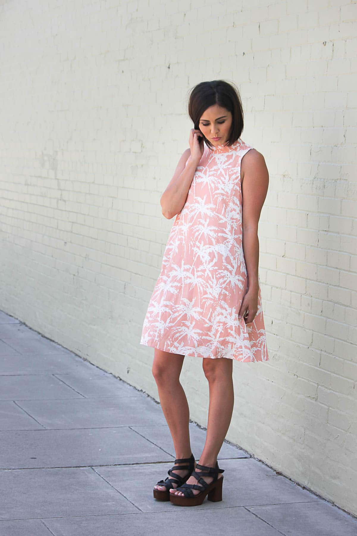 Summer Dress with Palm Trees from Tobi