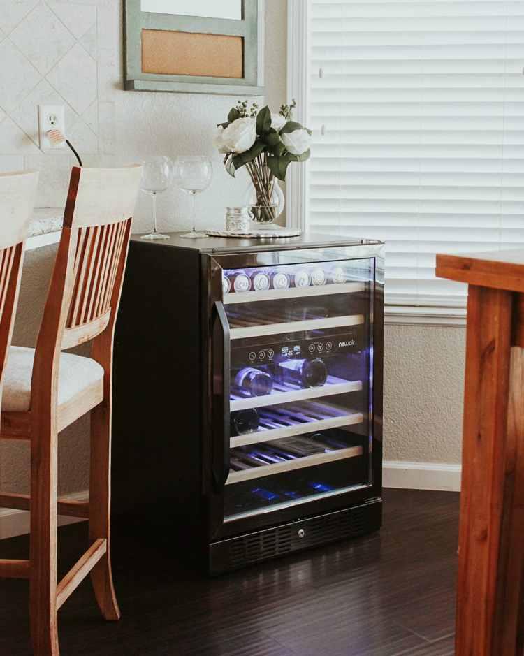 NewAir Black Stainless Wine fridge