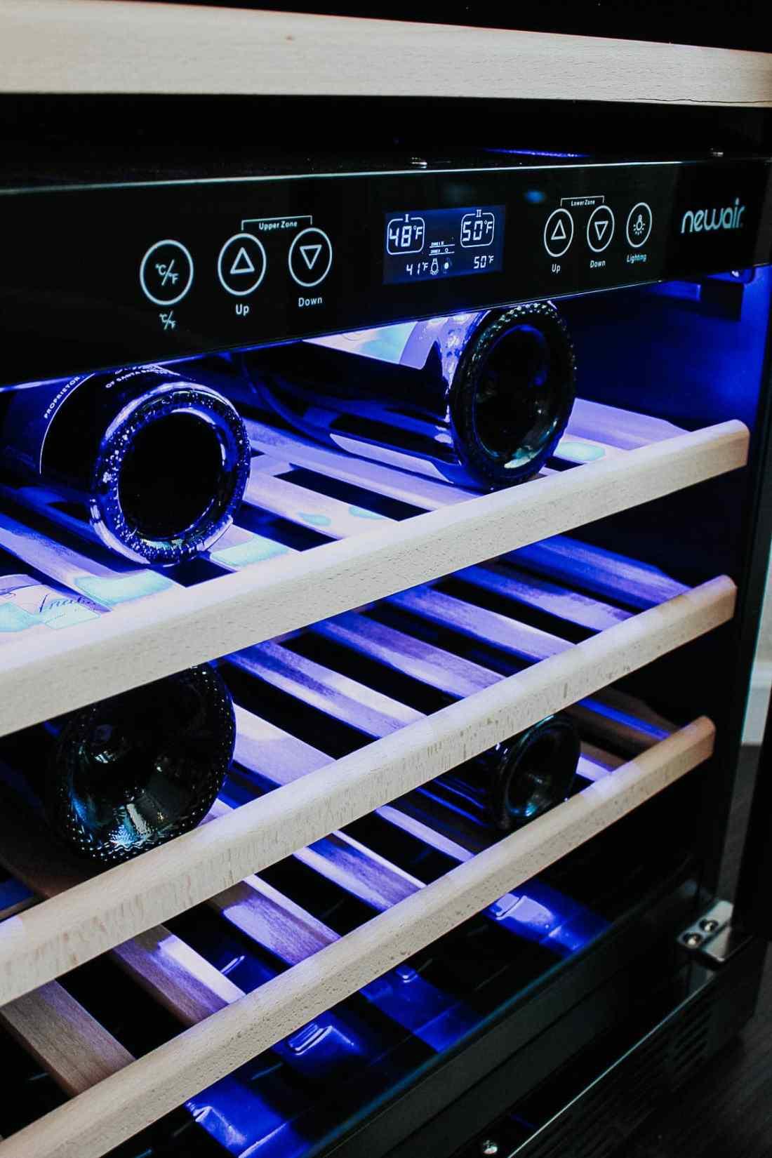 NewAir Black Stainless Winefridge